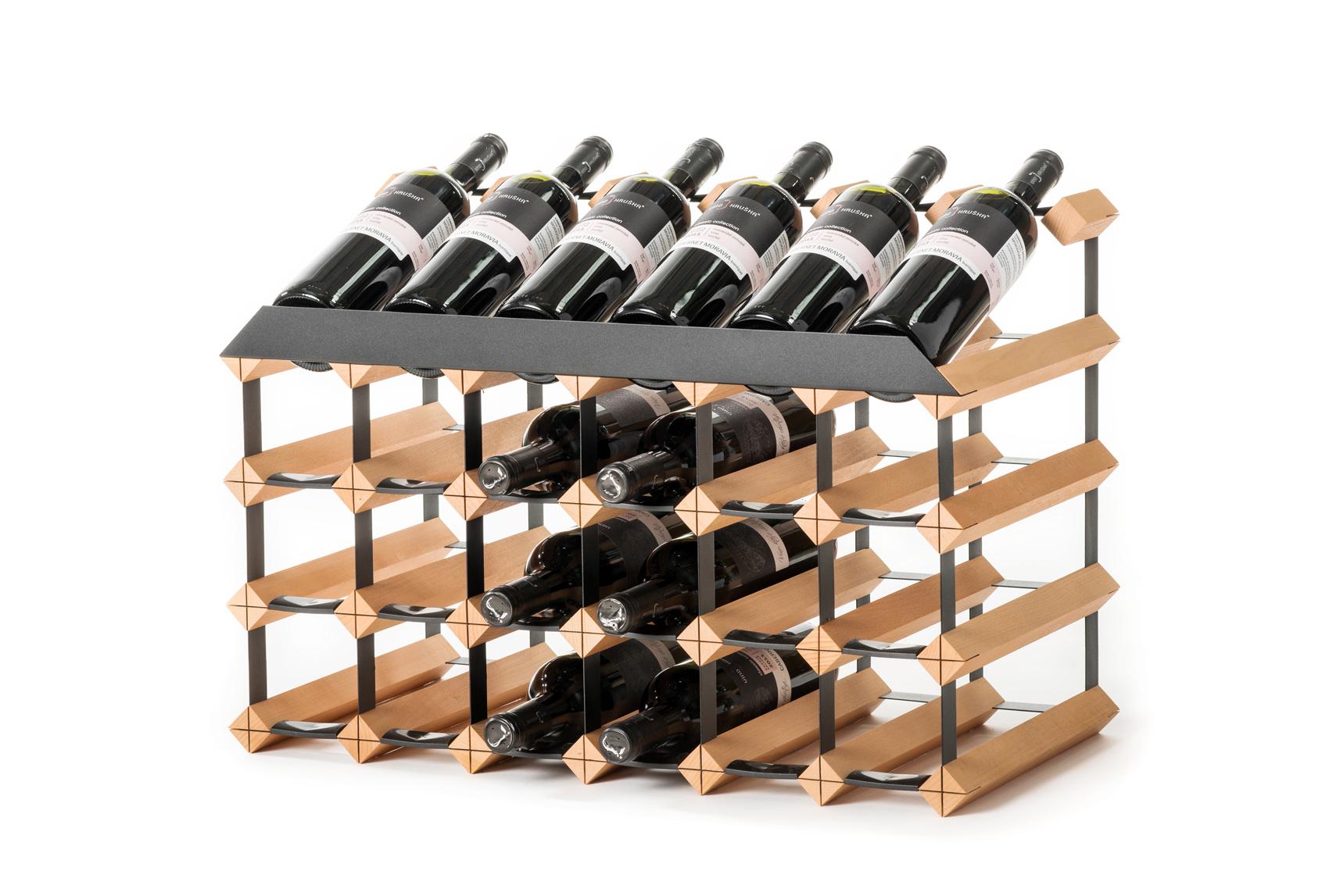 Pultový stojan na víno 24 lahví
