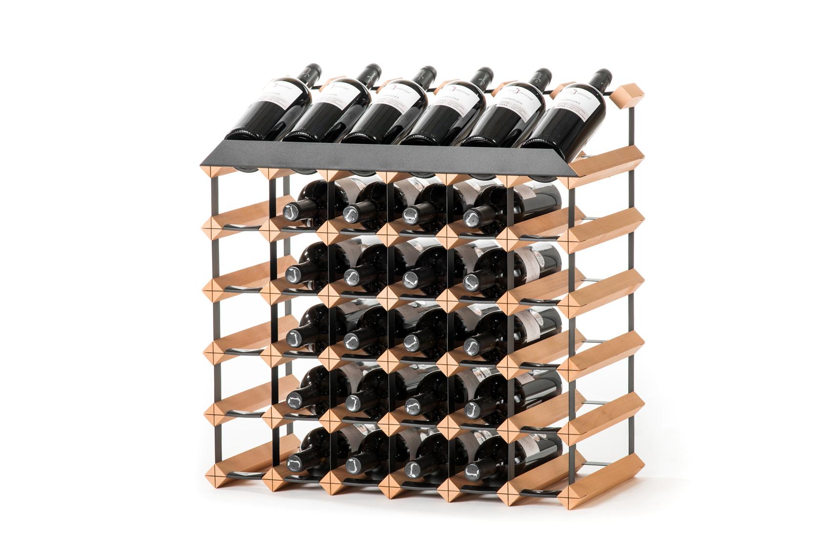 Pultový stojan na víno (36 lahví)