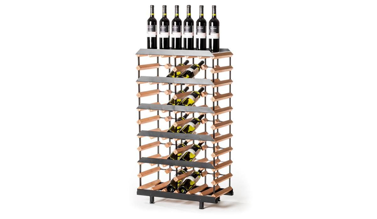 Prezentační stojan na víno (30 lahví)