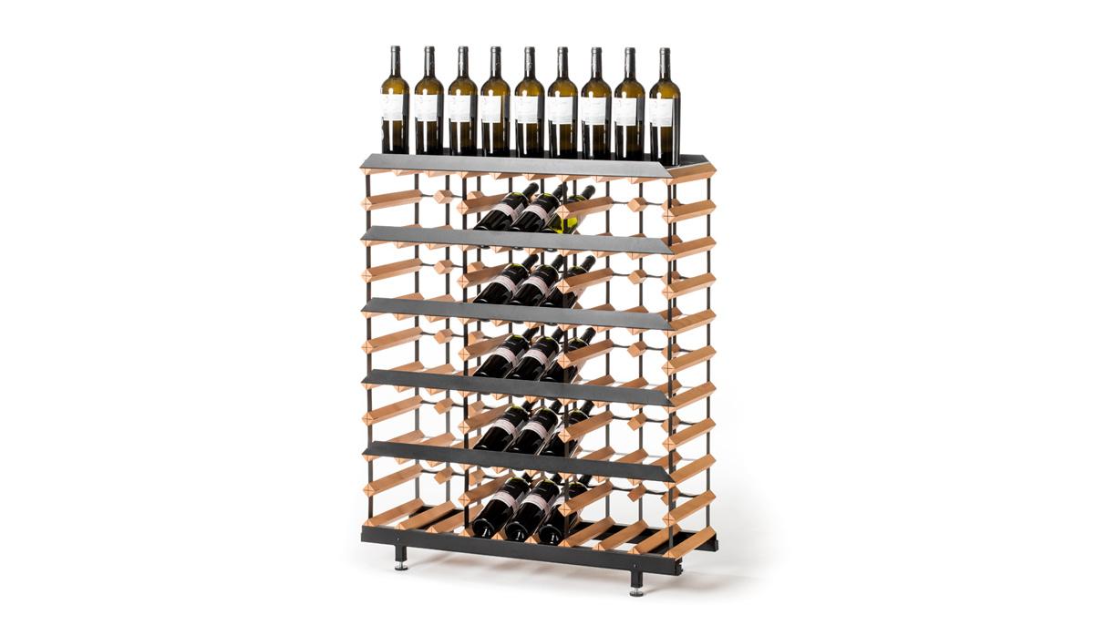 Prezentační stojan na víno (45 lahví)