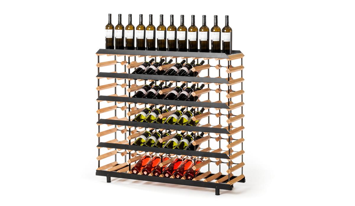 Prezentační stojan na víno (60 lahví)