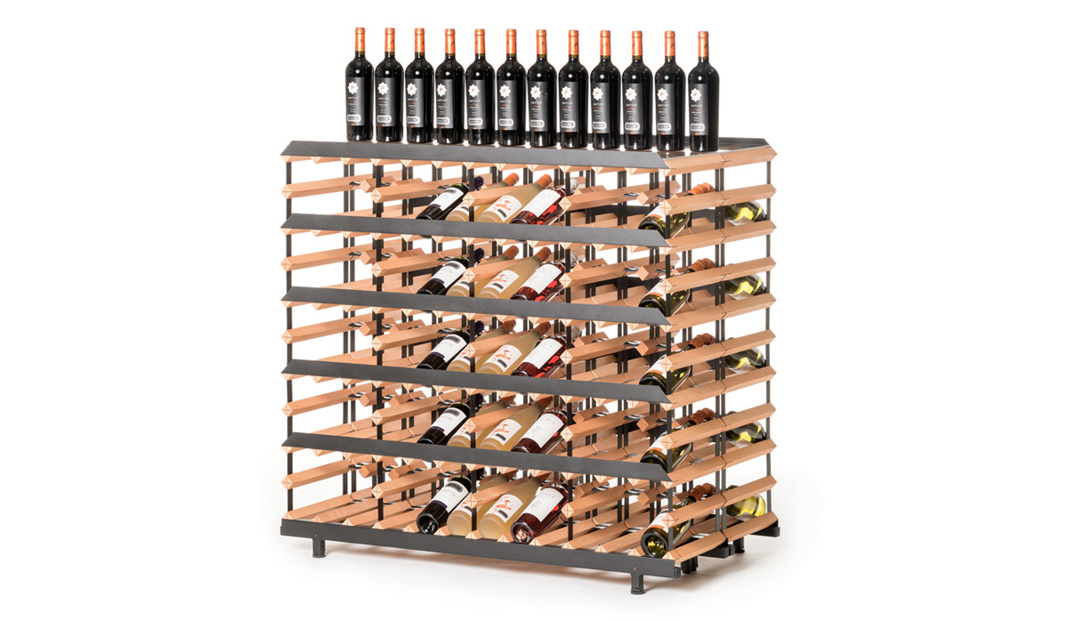 Prezentační stojan na víno (120 lahví)