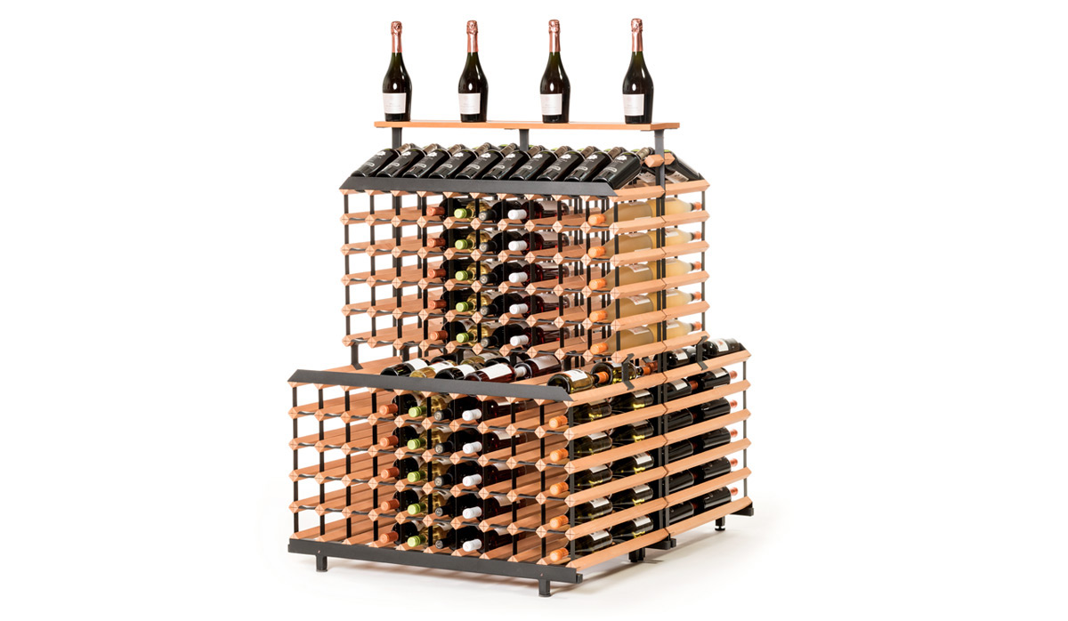 Patrový stojan na víno ( 1m, 360 lahví )