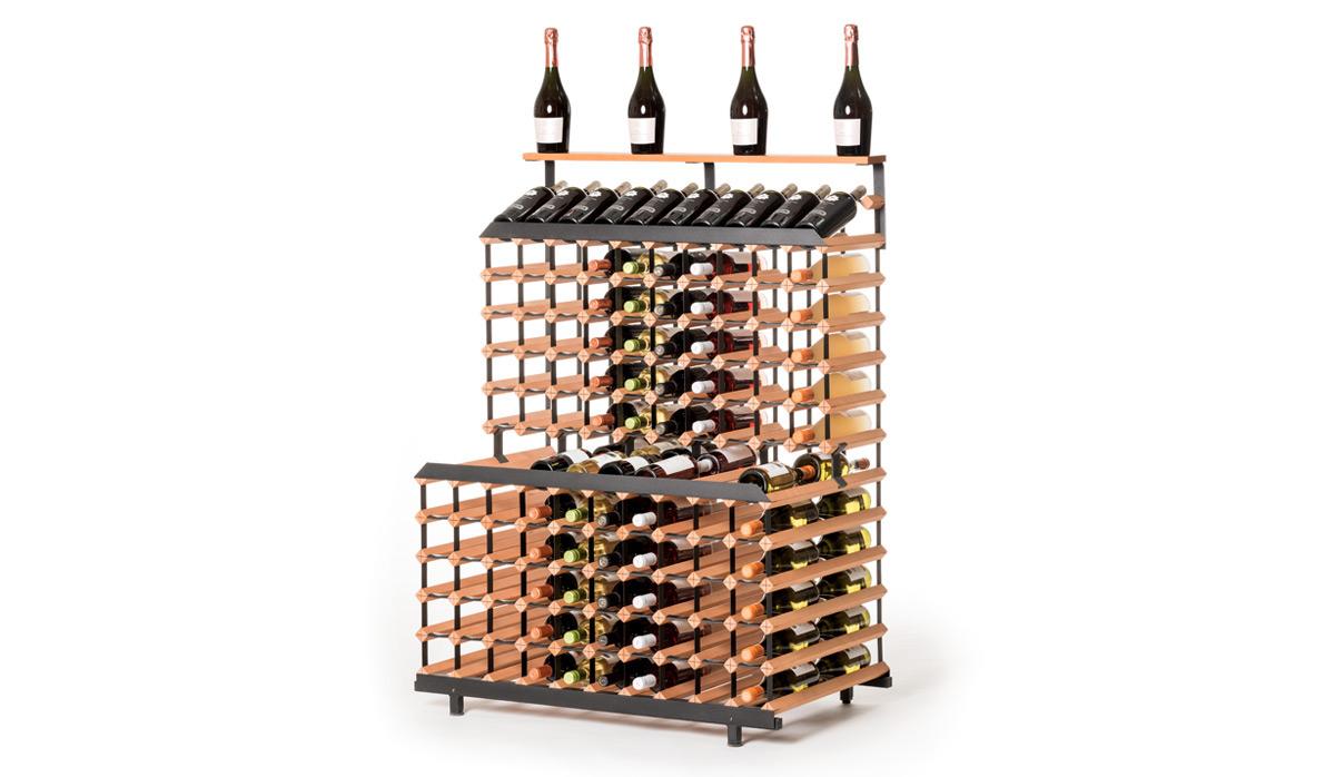 Patrový stojan na víno ( 1m, 180 lahví )