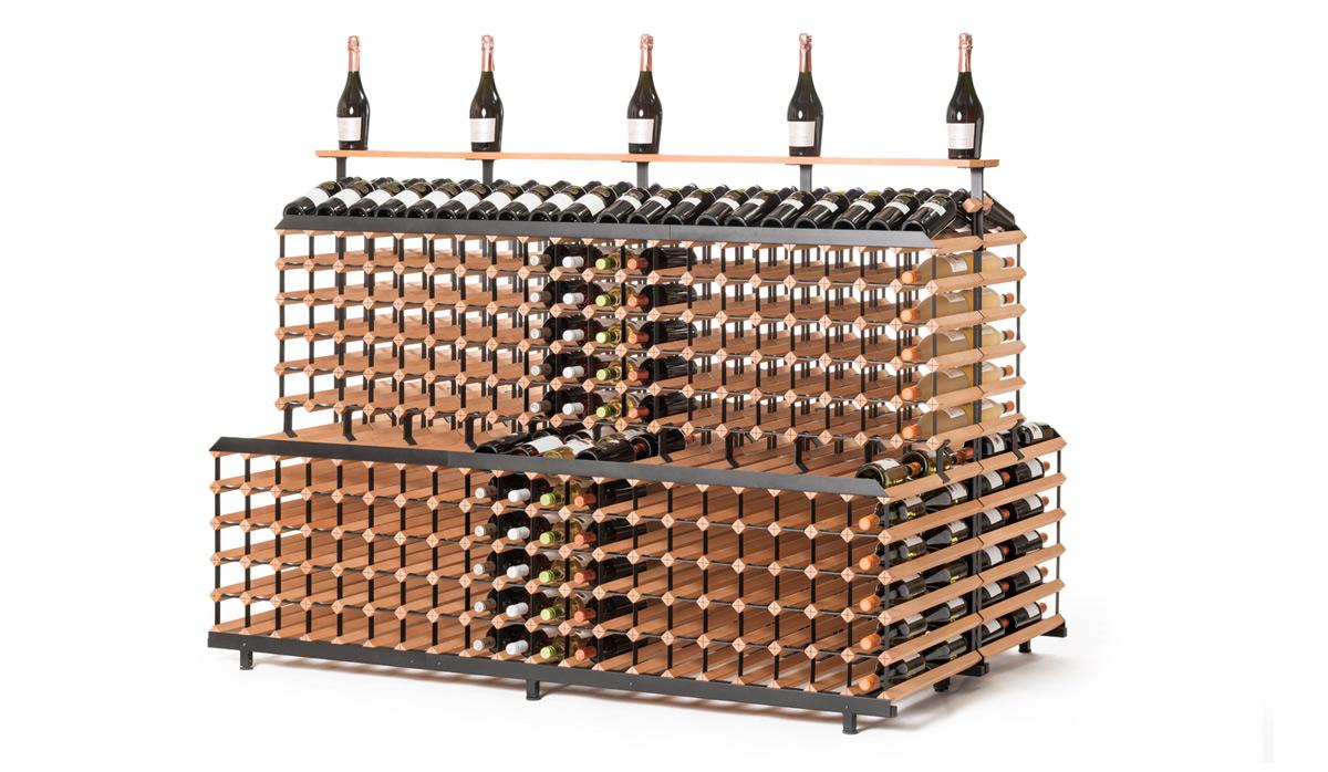 Patrový stojan na víno ( 2m, 720 lahví )