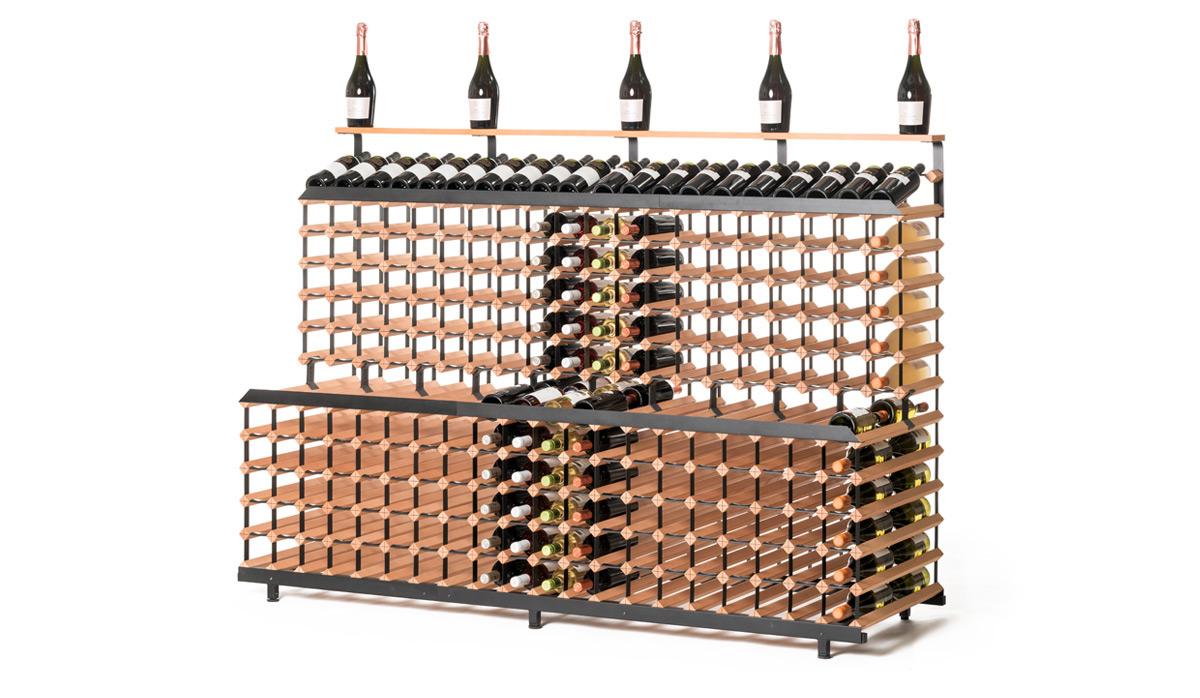 Patrový stojan na víno ( 2m, 360 lahví )