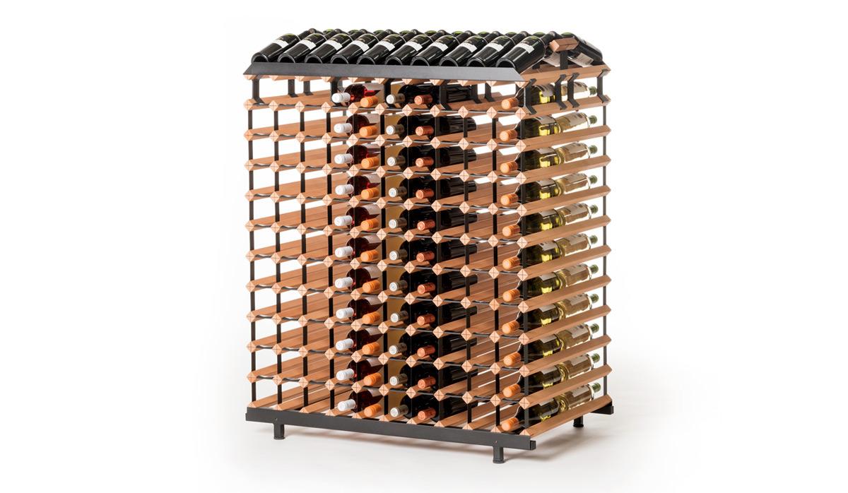 Oboustranný stojan na víno ( 240 lahví )